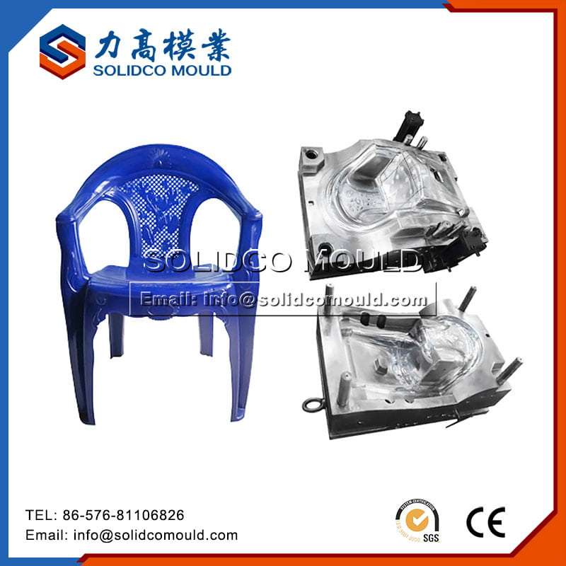 Plastic Blue Baby Chair Mould