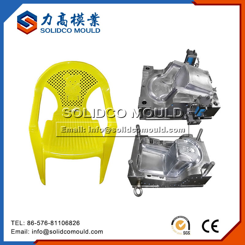 Plastic Yellow Baby Chair Mould