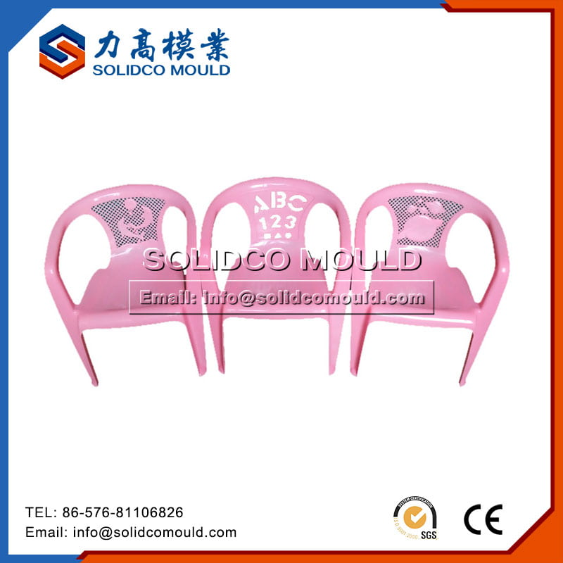 Plastic Pink Children Chair Mould