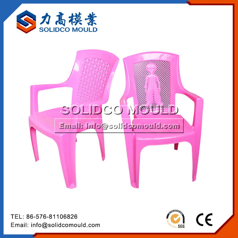Plastic Pink Kids Chair Mould