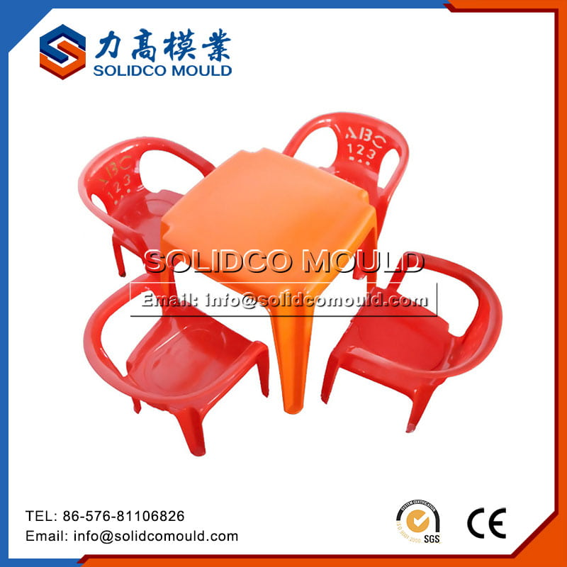 Plastic Kids Round Table Chairs mould