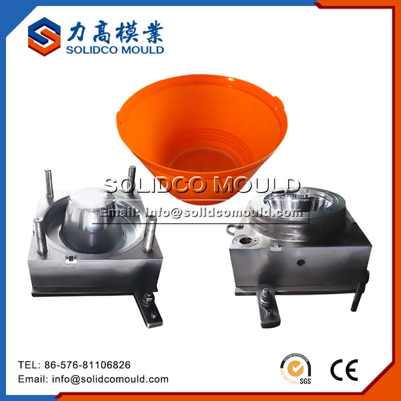 Plastic Bucket With Metal Leg Mould