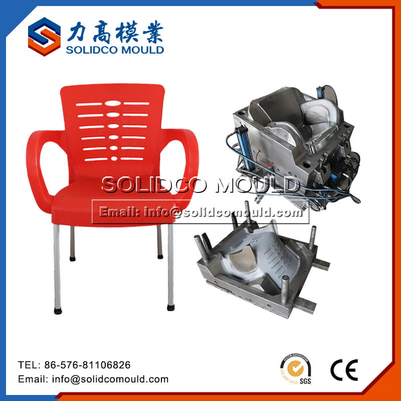 Chair With Steel Leg Mould