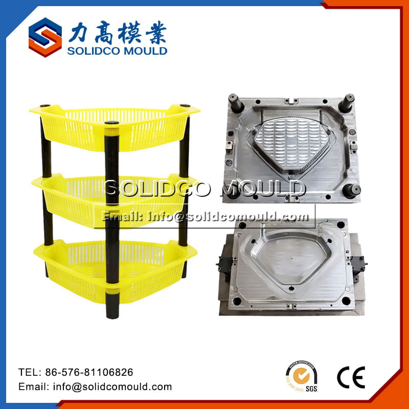 Plastic Kitchen Storage Rack Mould