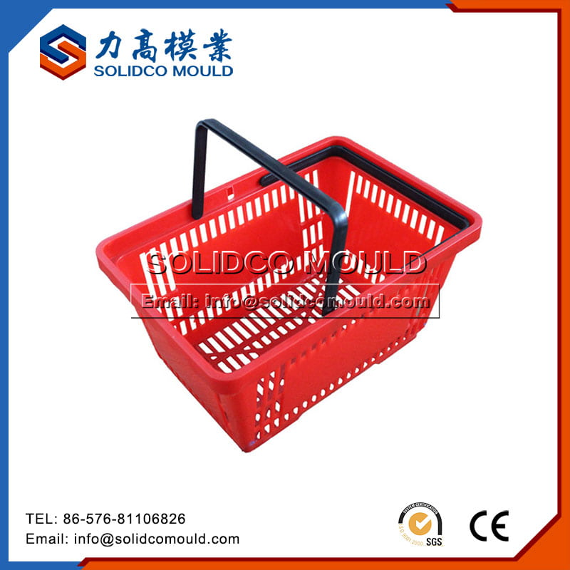 Plastic Shopping Basket With Handle