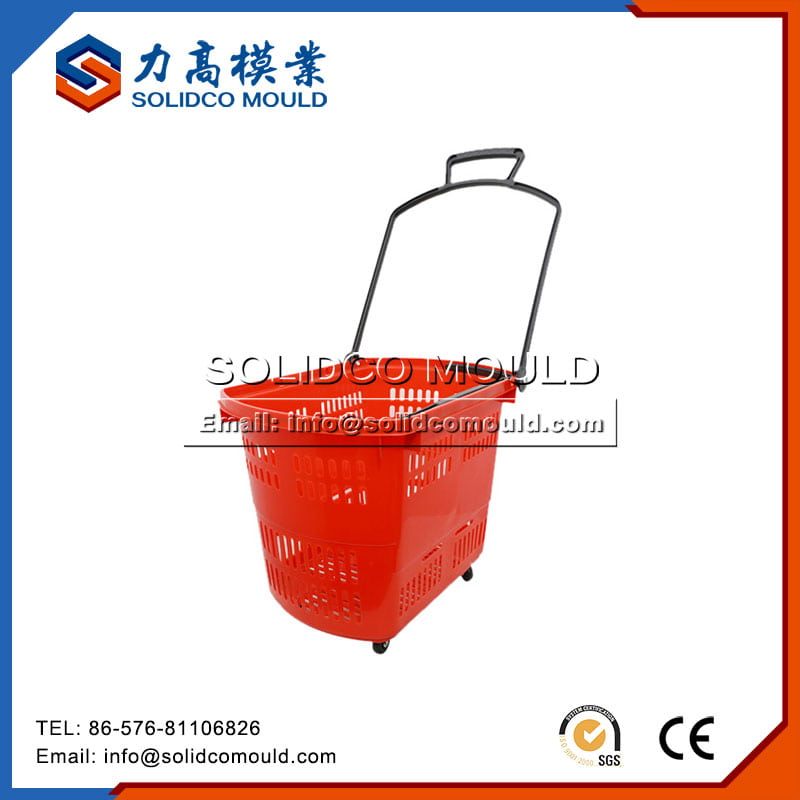 Plastic Supermarket Basket Mould