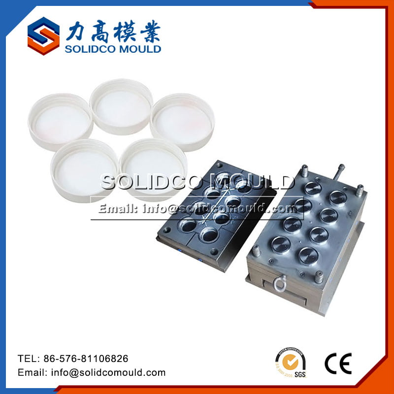 Cap with threading mould