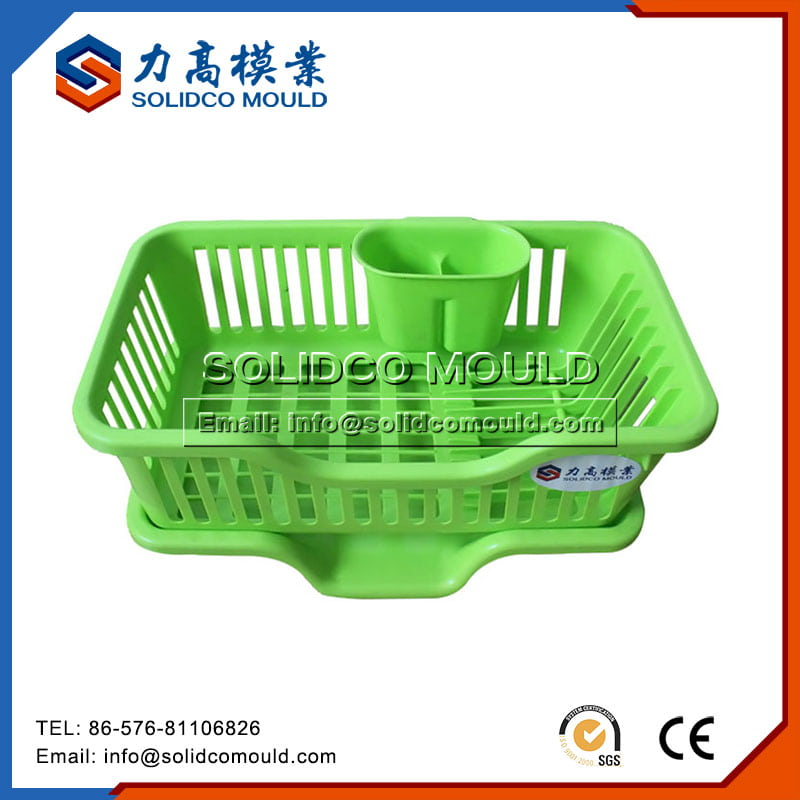 Plastic Green Dish Rack Mould