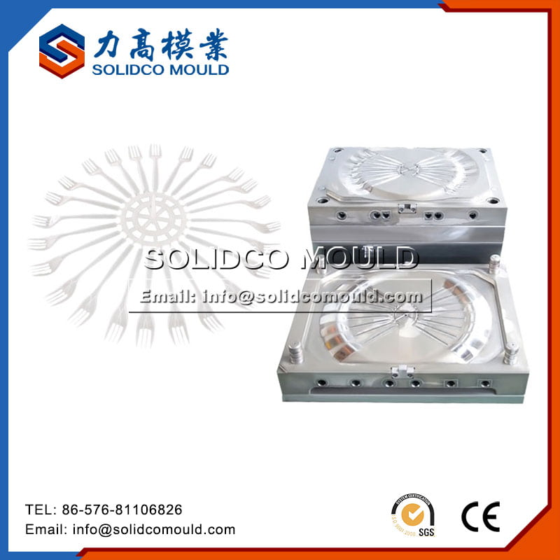 Plastic Disposable Fork Mould