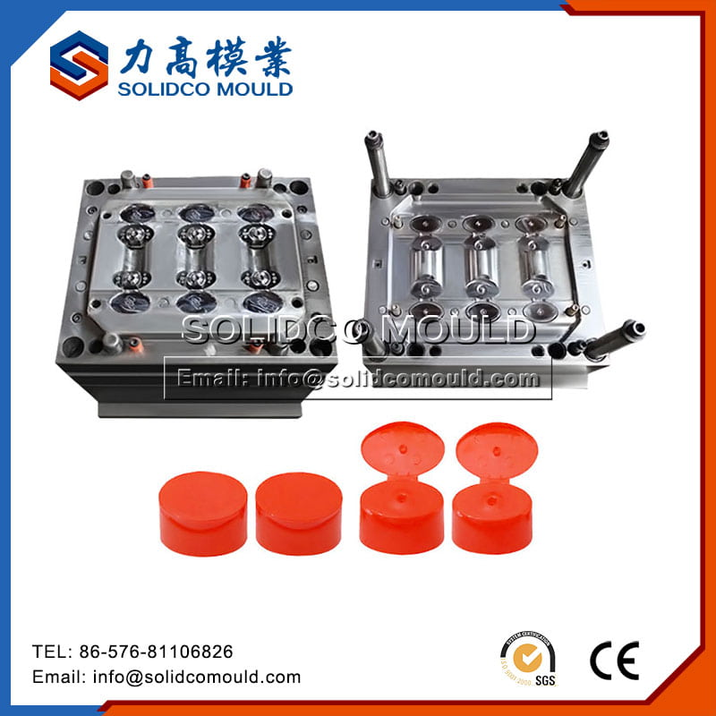 Red Self Lock Flip Top Cap Injection Mould