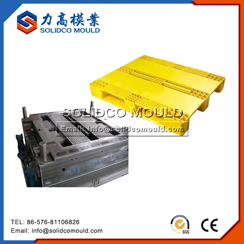 Yellow Double Deck Plastic Pallet Mould
