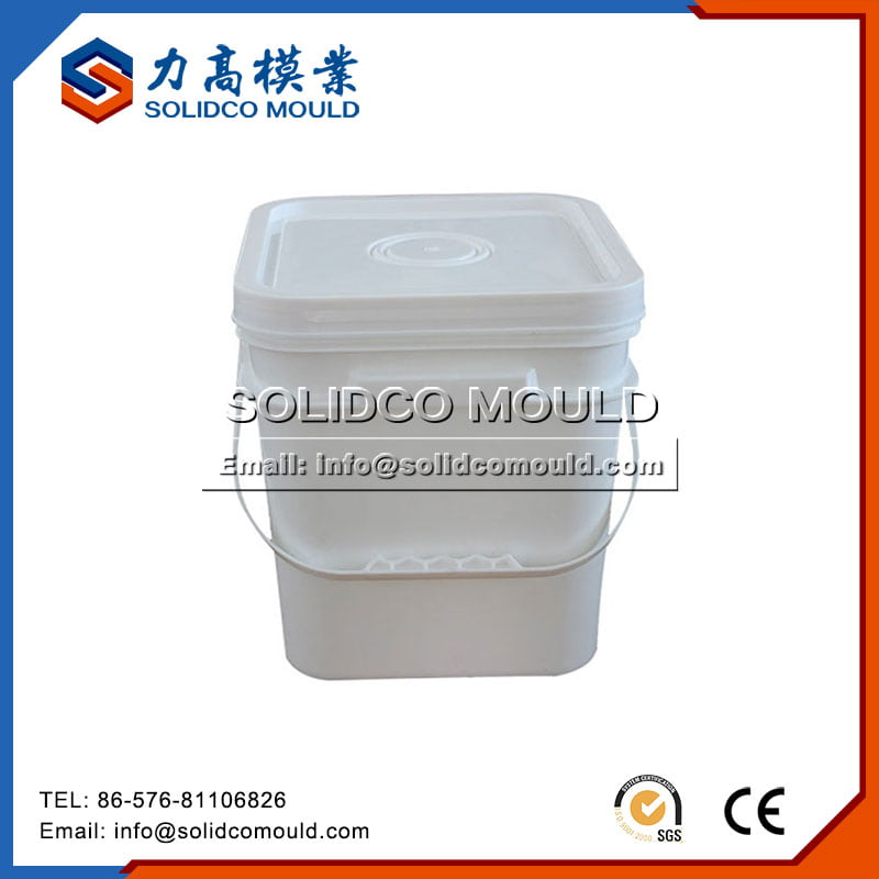White Square Paint Bucket Mould