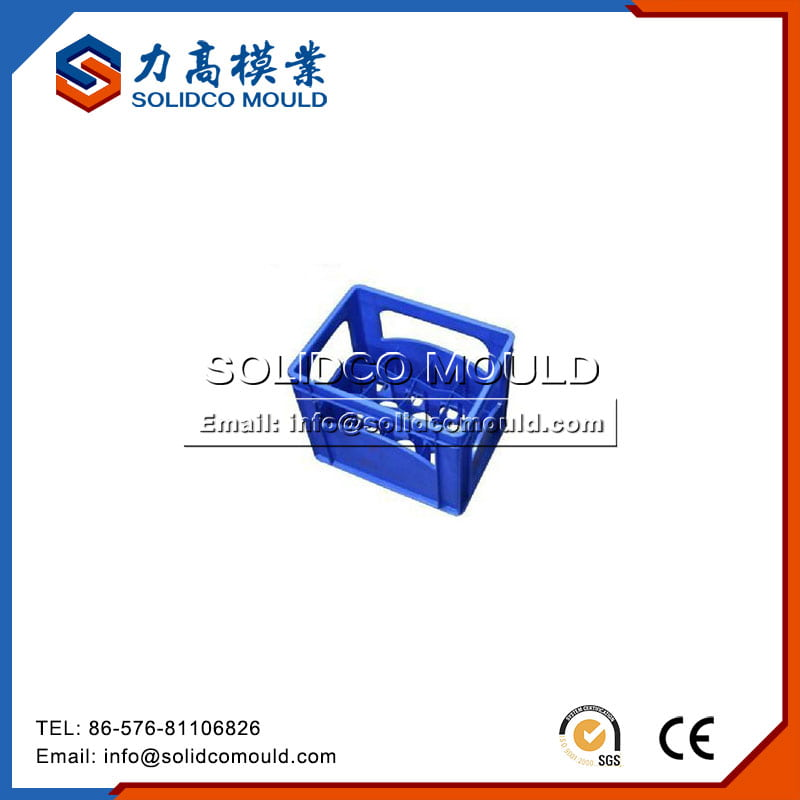 Blue Plastic Bottle Crate Mould