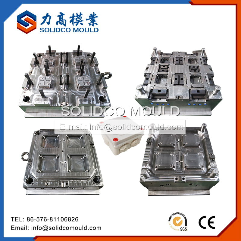 Plastic Electrical Junction Box Injection Mould
