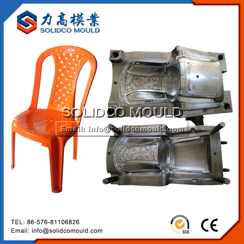 Plastic Household Armless Chair Mould
